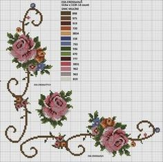 This post was discovered by ne Cross Stitch Gallery, Cross Stitch Borders, Cross Stitch Rose, Cross Stitch Flowers, Cross Stitch Charts, Cross Stitching, Cross Stitch Patterns, Flower Embroidery Designs, Flower Patterns