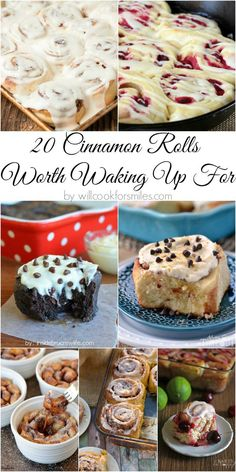 20 Cinnamon Rolls Recipes Worth Waking Up For by @willcook4smiles