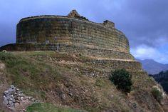 Ecuador. 'Temple of the Sun', part of the most important Inca ruins in Ecuador on the Inca Trail to Ingapirca trek.
