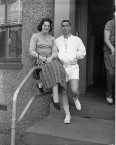 Short white shorts, 1960