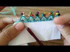 This Pin was discovered by Mnv Crochet Edging Patterns, Crochet Borders, Knitting Patterns, Saree Tassels Designs, Saree Kuchu Designs, Hand Embroidery Stitches, Crochet Stitches, Embroidery Patterns, Knitting Videos