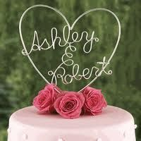 This is totally going to be my wedding cake topper...except the names will be different! :)