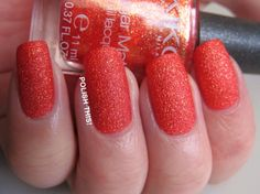 Today I have two of those amazing new Kiko Sugar Mat polishes that I got from my swap to show you! So first of here's number 641 calle. Poppy Red, Pink Poppies, Strawberry, Polish, Sugar, Vitreous Enamel, Strawberry Fruit, Strawberries, Nail