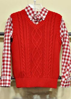 Boys 2014 Red Check Shirt<BR>2T to 12 Years<br>Now In Stock