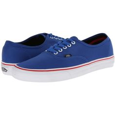 Vans Authentic Princess Blue/Mars Red) Skate Shoes, Blue ($18) ❤ liked on Polyvore featuring shoes, sneakers, blue, lightweight sneakers, red wing shoes, blue shoes, red sneakers and red shoes