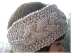 Knitted Headband, Knitted Hats, Crochet Hats, Bonnet Crochet, Cable Knit Hat, How To Purl Knit, Free Crochet, Headbands, Crochet Patterns