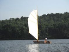 Testing a batwing sail before the 2012 PDRacer Worlds.
