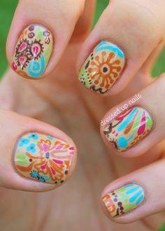 Paisley Nail Art -LOVE
