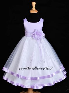Lavender Flower Girl Dresses | Lilac Flower Girl Dress