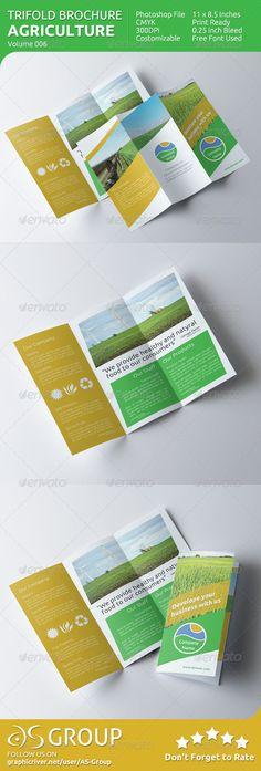 agriculture tri fold brochure v006