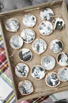 DIY Photo Ornaments, Christmas Decorations, Hot Chocolate Bar, Plaid Blankets, Christmas Tree, Red Velvet Cupcakes