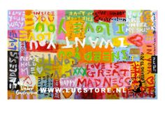 TITLE: I WANT YOUR LOVE 2013  SIZE : 140X100  MATERIAL : MIXED MEDIA ON CANVAS