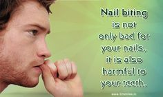 Dental Fact: Nail biting is not only bad for your nails, it is also harmful to your teeth. Dental Fact: Nail biting is not only bad for your nails, it is also harmful to your teeth. Health Facts, Oral Health, Dental Health, Dental Care, Kids Dentist, Pediatric Dentist, Best Dentist, Dental Facts, Dental Humor