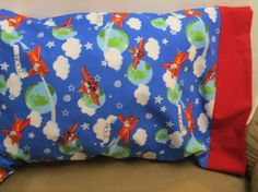 Airplane Pillowcase  Toddler/Travel or Standard by bubblenbee
