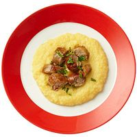 Soft Polenta with Sweet Italian Sausage