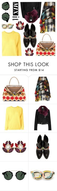 """""""Mix it"""" by stacey-lynne ❤ liked on Polyvore featuring Fendi, Preen, Roseanna, La Bête, Dolce&Gabbana, Spitfire and FOSSIL"""