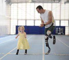 "One of the greatest pictures I've ever seen. Oscar Pistorious teaching a young girl that ""disability"" is just a word."