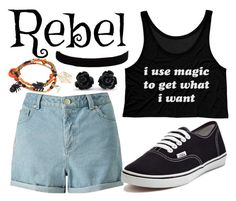 """""""Halloween Tag"""" by moonlight-princess-of-the-stars ❤ liked on Polyvore featuring Miss Selfridge, Vans and The Flexx"""