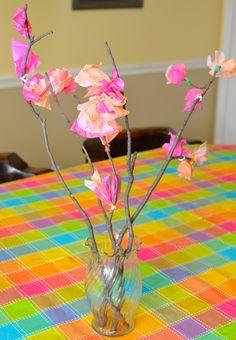 DIY cherry blossoms