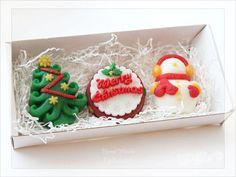 Набор мыла Merry Christmas - новогодний набор мыла серии Merry Christmas из 3 штук в подарочной коробке.