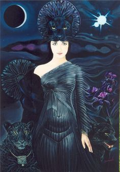 Black Jaguar animal totem: http://www.shamanicjourney.com/article/6014/black-panther-power-animal-symbol-of-astral-travel-feminine-energy-death-and-rebirth