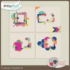 Quirkiness Template Pack :: Gotta Pixel Digital Scrapbook Store by Luv Ewe Designs $3.00