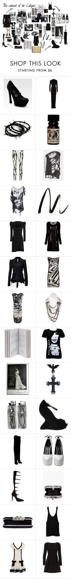 """""""Caligari"""" by greengoblinz ❤ liked on Polyvore featuring Yves Saint Laurent, Roland Mouret, Balmain, Acne Studios, Helmut Lang, FingerPrint Jewellry, Benefit, Sharpie, Carven and McQ by Alexander McQueen"""