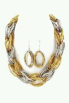 Amria Necklace Set on Emma Stine Limited – jewelry Bead Jewellery, Seed Bead Jewelry, Fashion Jewelry Necklaces, Wire Jewelry, Jewelry Crafts, Jewelry Sets, Beaded Jewelry, Handmade Jewelry, Beaded Bracelets