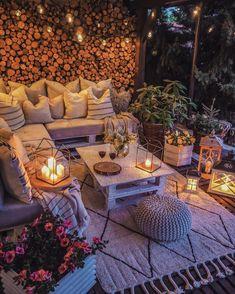 Outdoor Rooms, Outdoor Living, Outdoor Decor, Balcony Design, Garden Design, Terrazas Chill Out, Backyard Patio Designs, Small Backyard Landscaping, Small Backyard Design