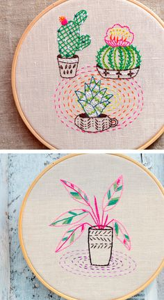 Embroidery patterns by NaNee Hand Embroidery // hoop art