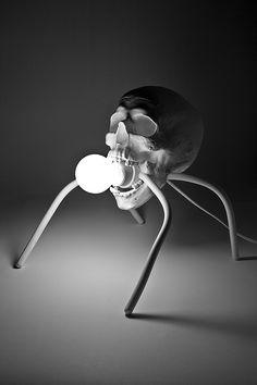 Bubbleskull Lamp - Skullspiration.com - skull designs, art, fashion and more
