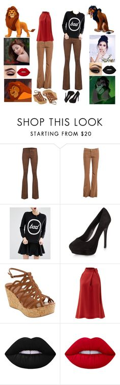 """Siblings. (The Lion King)"" by annacastrolima ❤ liked on Polyvore featuring SLY 010, Dondup, Cheap Monday, New Look, Theory and Lime Crime"