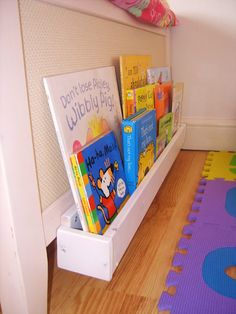 This is a great idea for a childs room.  Store books at the foot board.  You could even use the wood from pallets for this project.  Love it