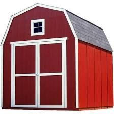 Montana 8 ft. x 10 ft. Wood Shed Kit with Floor Frame, Multi