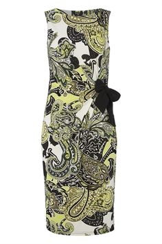 Paisley Print Side Tie Jersey Dress