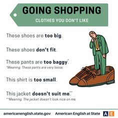 Phrases: Going Shopping - Clothes you don't like
