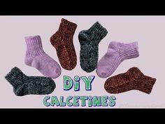 Cómo tejer calcetines de lana en dos agujas. - YouTube