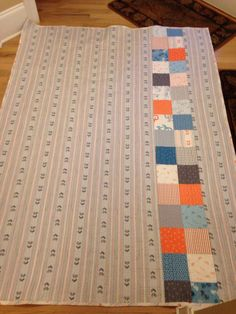 Quilt back, bicycle fabric.