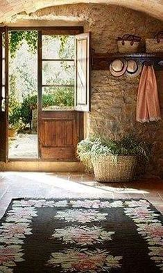 Revista de decoración. Ideas inspiradoras para los hogares. French Cottage, French Country House, French Farmhouse, Cottage Style, Cozy Cottage, Italian Country Decor, Rustic French, Rustic Style, Modern Rustic