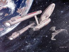 Star Trek TOS Ships by kcpogue.deviantart.com on @DeviantArt