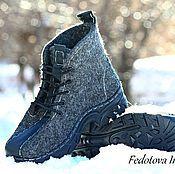 """Ботинки валяные """"Night"""" – купить или заказать в интернет-магазине на Ярмарке Мастеров   Красивые, комфортные,теплые ботинки,сваляны…"""