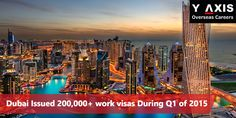 Dubai keeps adding foreign workforce, issues 200,000+ new work visas in Q1 of 2015. More hiring expected throughout 2015!