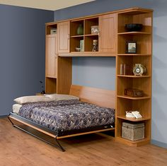 Murphy Bed folds up on side versus top down