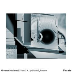 Abstract Boulevard Fractal Print