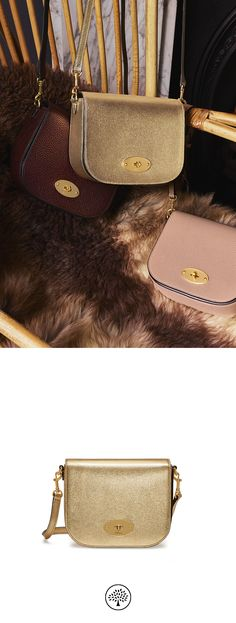 8acc9f5488 Shop the Small Darley Satchel in Gold Metallic Goat Leather at Mulberry.com.  The