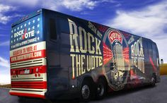 """Vinyl vehicle wrap by FastSigns for the """"Rock The Vote"""" Bus.                                                                                                                                                      More"""