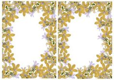Pretty gold floral A5 Insert on Craftsuprint - Add To Basket!
