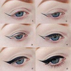 Si vous souhaitez un trait d'eye-liner en forme de virgule, dessinez les contours extérieurs, puis remplissez.