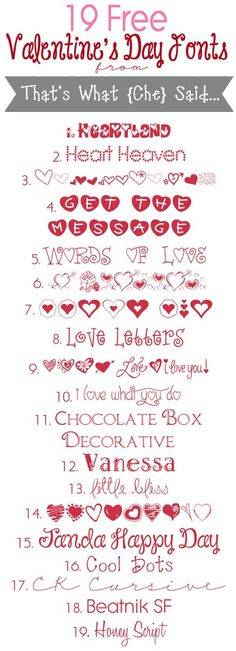 Free Valentine's Day Fonts My Funny Valentine, Valentine Day Crafts, Valentines Font, Saint Valentine, Valentine Ideas, Fancy Fonts, Cool Fonts, Silhouette Fonts, Silhouette Projects