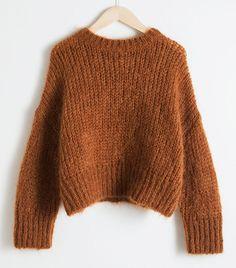 Wool Blend Chunky Knit Sweater - Camel - Sweaters - & Other Stories Wool Blend Chunky Knit Sweater - Camel - Sweaters - & Other Stories Knit Sweater Outfit, Pullover Outfit, Sweater Fashion, Brown Fashion, Autumn Fashion, Budget Planer, Mode Boho, Chenille, Sweater Knitting Patterns